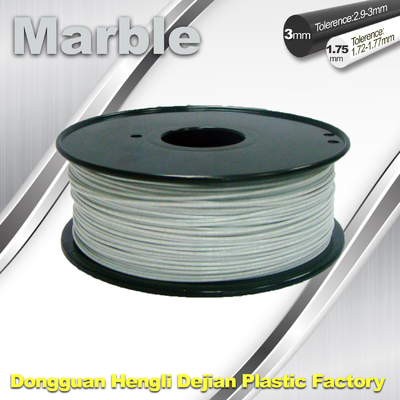 চীন Good Simple Sense Flexible 3d Printing Filament Marble Filament White Color সরবরাহকারী