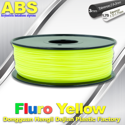 চীন Fluorescent ABS 3d Printer Filament ABS 3D Printing Material For Desktop Printer সরবরাহকারী