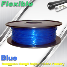 চীন High Soft TPU Rubber 3D Printer Filament 1.75mm / 3.0Mm In Blue সরবরাহকারী