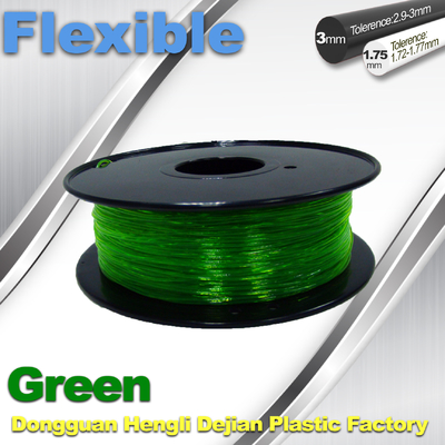 চীন Green 0.8kg / Roll Flexible 3D Printer Filament Environmentally Friendly সরবরাহকারী
