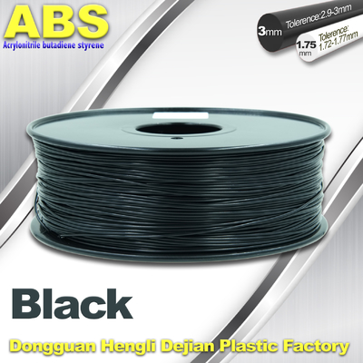 চীন Black 1.75mm /3.0mm 3D Printer Filament , Ultimaker 3D Printer Consumables ABS Filament সরবরাহকারী