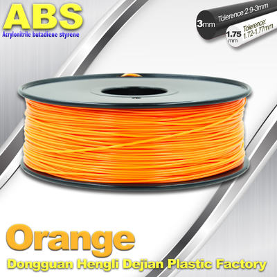 Orange  3D Printing Materials 1.75mm ABS 3D Printer Filament In Roll